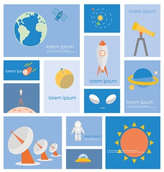 Icon astronomy space science vector