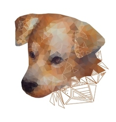 Isolated Stylized Portrait of a Dog vector image vector image