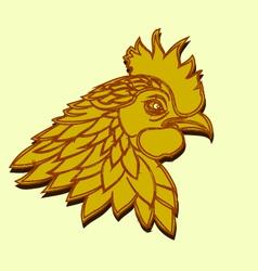 Line art - Cock vector image