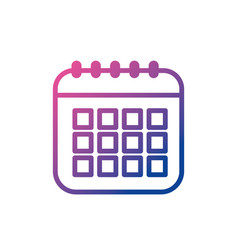Line calendar data to organizer important things vector