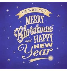 Merry Christmas typographic background vector image