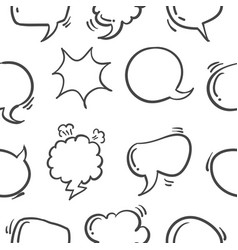 Pattern style text balloon hand draw vector