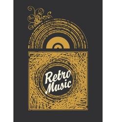 Retro music vector