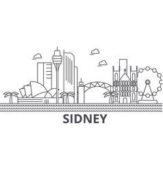 sidney architecture line skyline vector image vector image