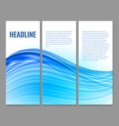 Wavy banner design vector