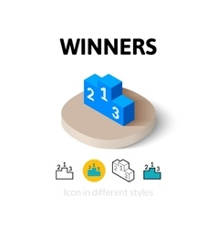 Winners icon in different style vector image vector image