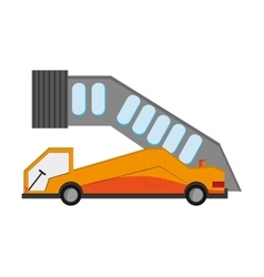 Airport ramp icon vector