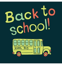 back to school background with bus vector image