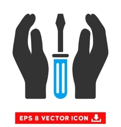 Tuning screwdriver care hands eps icon vector