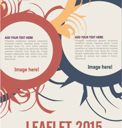 Leaflet design vector