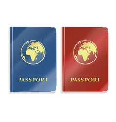 Two passports vector