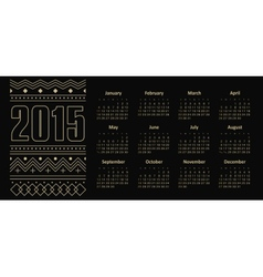 Calendar 2015 year with ornament vector