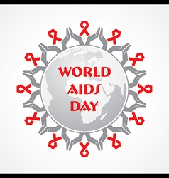 World aids day - hiv awareness concept vector