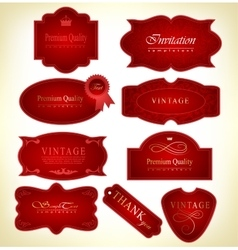Set retro labels vector