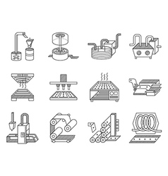 Icons for food processing industry vector