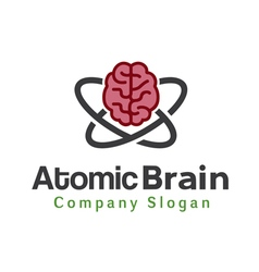 Atomic brain design vector