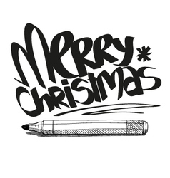 Artistic merry christmas design vector