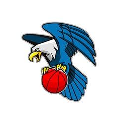 Flying Bald Eagle Grab Basketball vector image