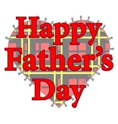 Happy fathers day patch vector