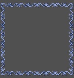 Simple paper frame with swirls for design vector image