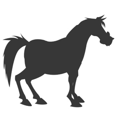 Horse cartoon silhouette icon vector