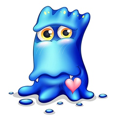 A loving blue monster vector image vector image