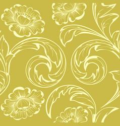 beige flowers vector image