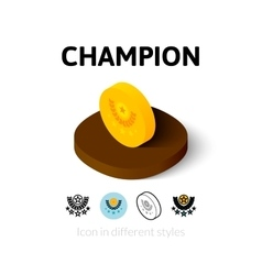 Champion icon in different style vector