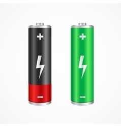 Charging concept full and low battery vector