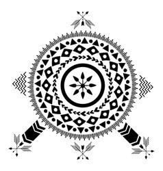 Ethnic tribal American Indians vector image