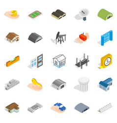 Formation icons set isometric style vector