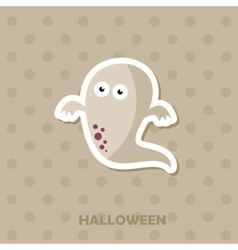 Ghost icon halloween sticker vector