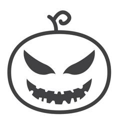 Halloween pumpkin line icon halloween and scary vector