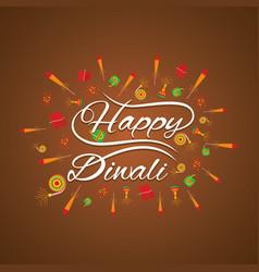 happy diwali card design vector image