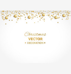 holiday background isolated golden garland border vector image
