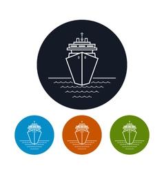 Icon cruise ship or carrier vector