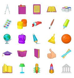 Info icons set cartoon style vector