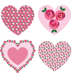 Mod rose valentine hearts vector