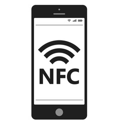 near field communication nfc mobile phone vector image vector image