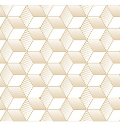 Retro Pattern with Golden Cubes vector image