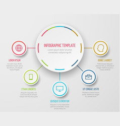 round chart infographic with steps progress vector image
