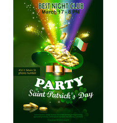 saint patricks day invitation card design vector image