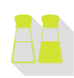 Salt and pepper sign pear icon with flat style vector