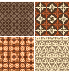 Set of four seamless square patterns vector image vector image