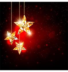 Sparkling Christmas Polygon Star vector image