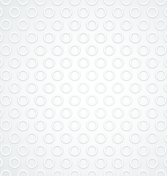 White Abstract Circle Dot Seamless Pattern vector image