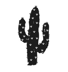 With succulent cactus vector