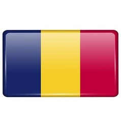 Flags Chad in the form of a magnet on refrigerator vector image