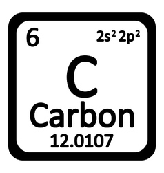 Periodic table element carbon icon vector image