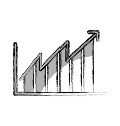 Bars statistics isolated icon vector